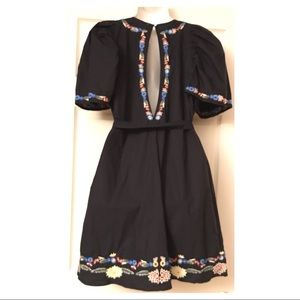 Free People Dresses - FREE PEOPLE EVANGELINE EMBROIDERED MINI DRESS